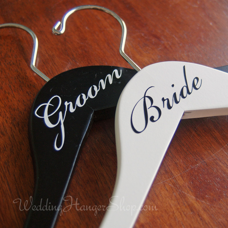 Bride & Groom Wedding Hangers Set of 2