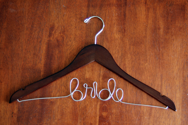 bridal hanger mahogany wedding hanger