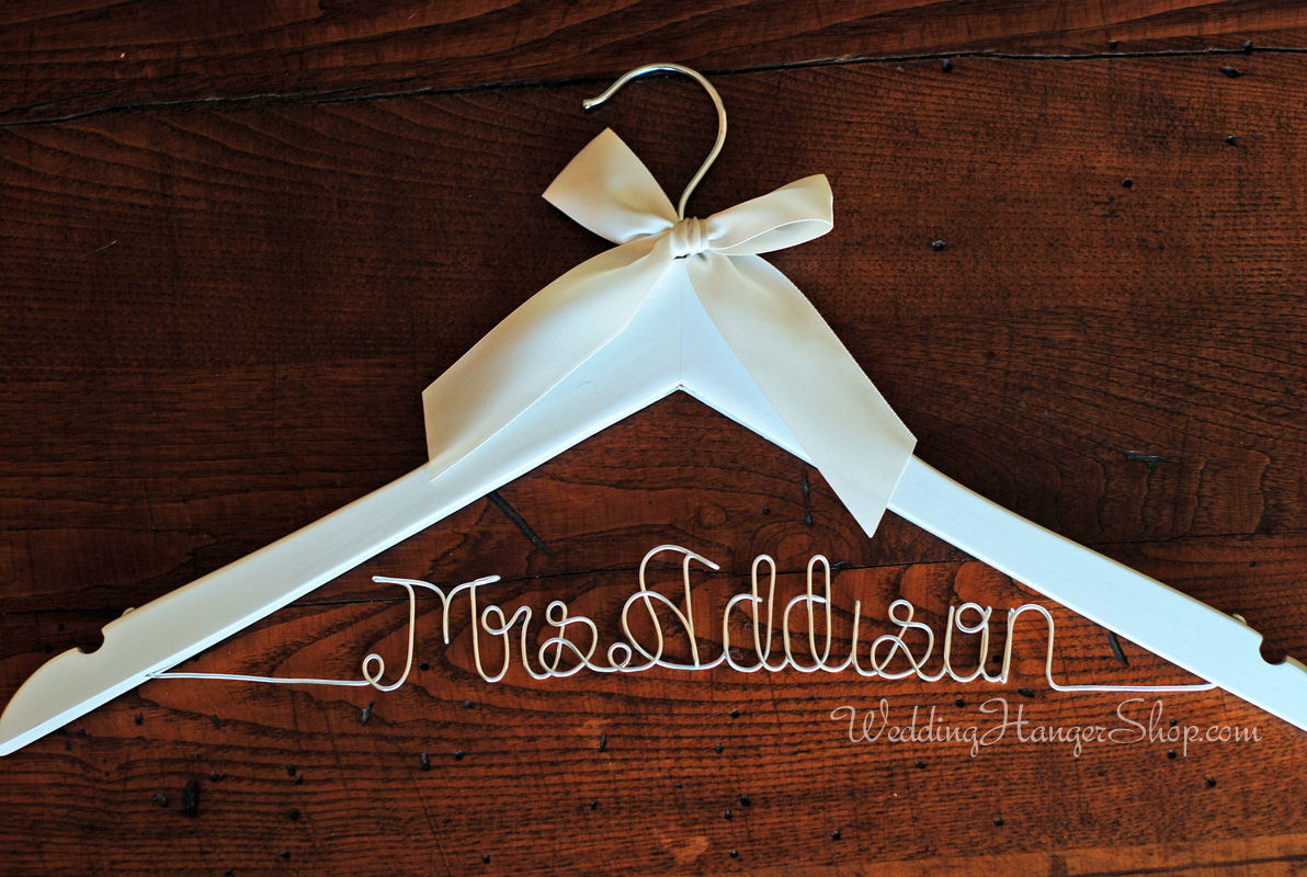 Custom Bridal Hanger - Wedding Hangers with your New Last Name