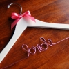 Bride Hanger with pink bow