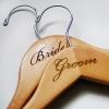 Bride and Groom Wedding Hangers Engraved