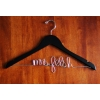custom wedding hanger black