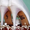 I Do Wedding Shoe Stickers Blue