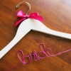 Bride Hanger with purple bow