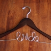 WALNUT finish Bride Hanger