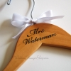 personalized wedding dress hanger with engraved last name