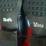 She's Mine Wedding Shoe Stickers