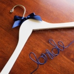 Bride Hanger with blue bow