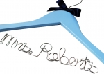 blue custom wedding hanger