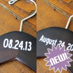 Wedding Hanger with Date