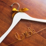 Bride Hanger with gold bow