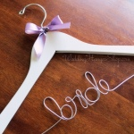 Bride Hanger with lilac bow