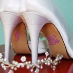 I Do Wedding Shoe Stickers Pink