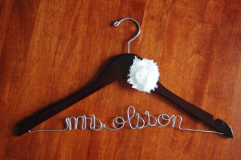 custom bridal hanger walnut
