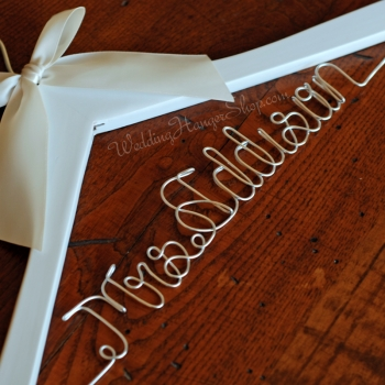 custom bridal hanger