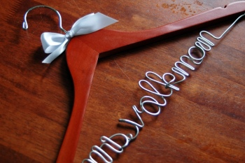 custom bridal hanger cherry