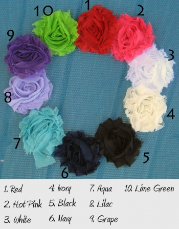 flower colors for wedding hanger