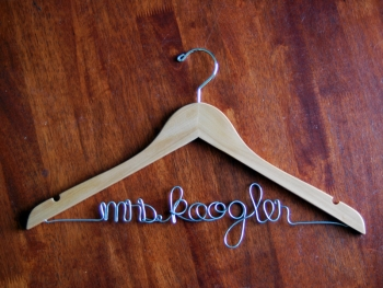 black groom hanger