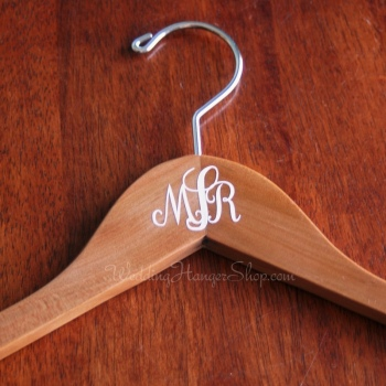 wedding hanger with monogram detail
